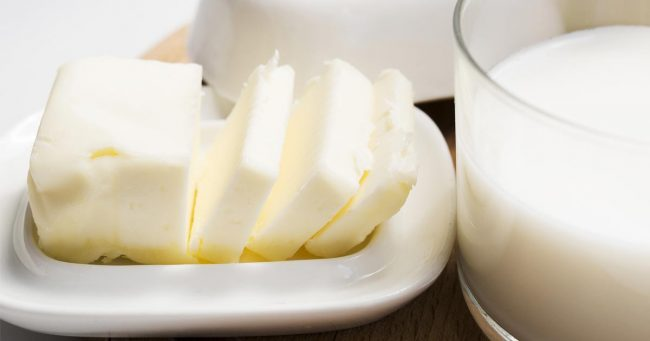 Butter in plate