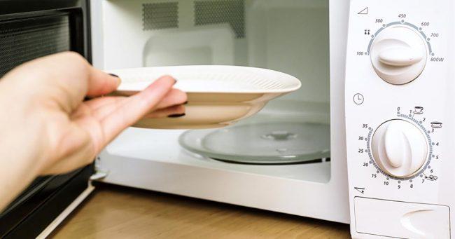 warming dishe on microwave